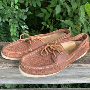 Sperry Top-Sider Leather Casual Boat Shoes Womens